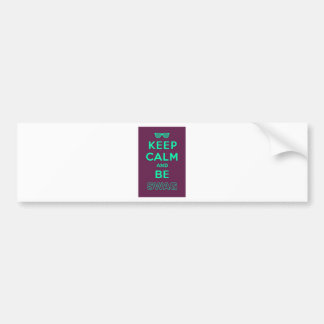 Keep Calm and Be Swag Sunglasses slogan Bumper Sticker