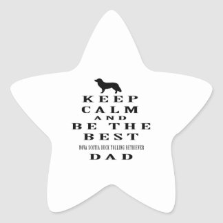 Keep calm and be the best Nova Scotia Duck Tolling Star Stickers