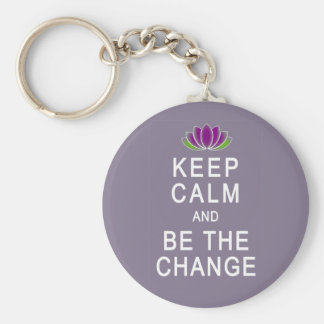 Keep Calm and Be the Change Tshirt Key Chain