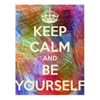 Keep Calm and Be Your Shelf Postcard