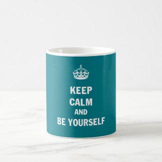 Keep Calm And Be Yourself Basic White Mug