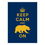 Keep Calm and Bear On - Gold