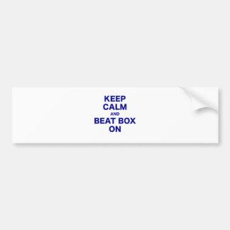 Keep Calm and Beat Box On Car Bumper Sticker