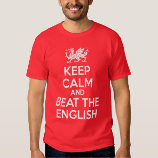 keep calm and beat the english t-shirt