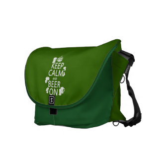 Keep Calm and Beer On (irish) (any color) Messenger Bag