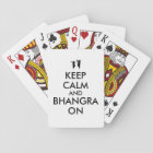 Keep Calm and Bhangra On Dancing Customisable Playing Cards