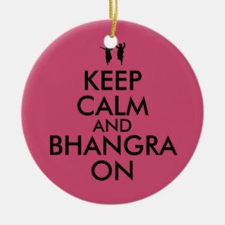 Keep Calm and Bhangra On Dancing Customizable Christmas Ornament
