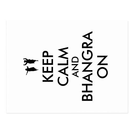 Keep Calm and Bhangra On Dancing Customizable Post Cards