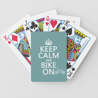 Keep Calm and Bike On (any color) Bicycle Playing Cards