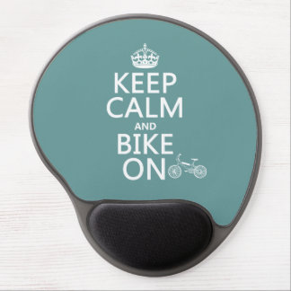 Keep Calm and Bike On (any color) Gel Mouse Pad