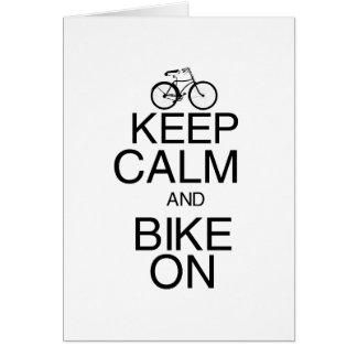 Keep Calm and Bike On Cards