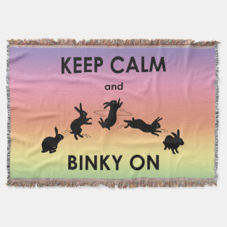 Keep Calm and Binky On Throw Blanket (Rainbow)