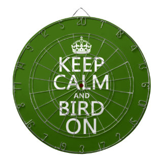 Keep Calm and Bird On Dartboard