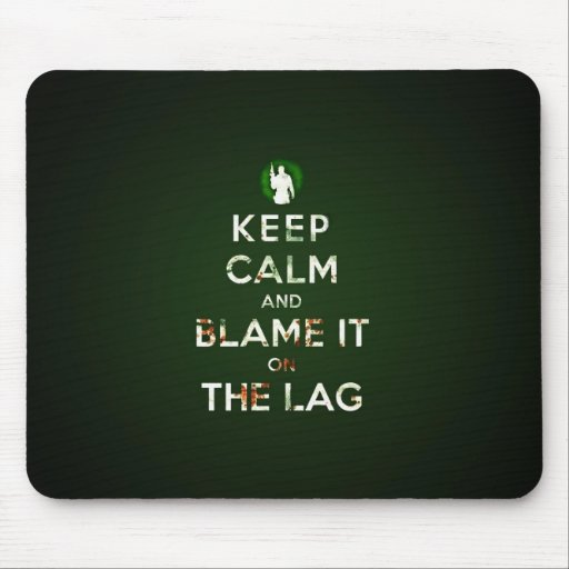 Keep calm and blame it on the lay mousepad
