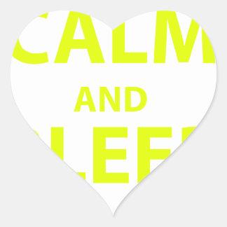 Keep Calm and Bleed Orange Heart Sticker