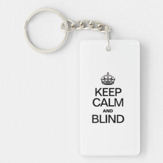KEEP CALM AND BLIND RECTANGLE ACRYLIC KEY CHAINS