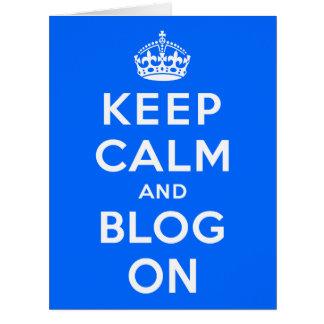 Keep Calm and Blog On Big Greeting Card