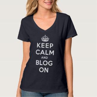 Keep Calm and Blog On Tshirt