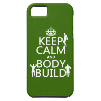 Keep Calm and Body Build (customise background) iPhone 5 Cover
