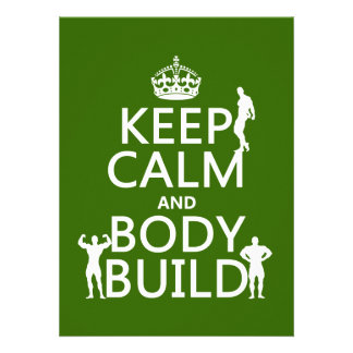 Keep Calm and Body Build customize background Custom Announcements