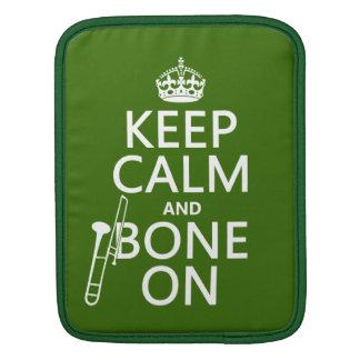 Keep Calm and 'Bone On (trombone - any color) iPad Sleeve