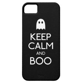 Keep calm and boo ghost iPhone 5 case