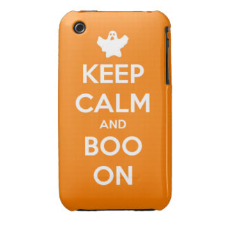 Keep Calm and Boo On iPhone 3 Case-Mate Cases