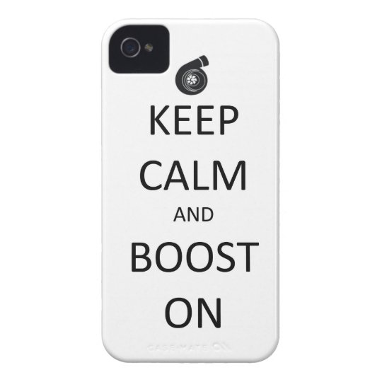 Keep Calm and Boost On - iPhone 4 Case