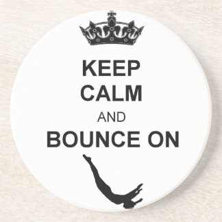 Keep Calm and Bounce Trampoline Drink Coaster