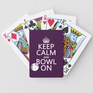 Keep Calm and Bowl On - all colours Bicycle Playing Cards