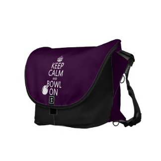 Keep Calm and Bowl On - all colours Courier Bags