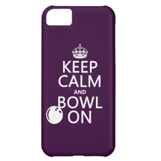 Keep Calm and Bowl On - all colours iPhone 5C Case
