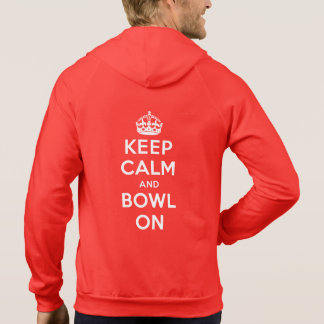 """Keep Calm and Bowl On"" Coloured Hoodie (Men's)"