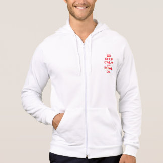 """""""Keep Calm and Bowl On"""" Hoodie 1-Sided (Men's)"""