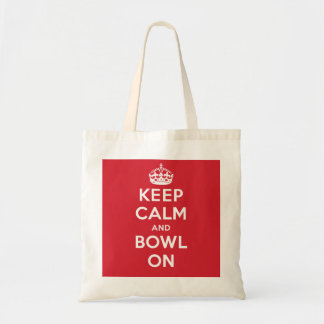 """Keep Calm and Bowl On"" Tote Bag"