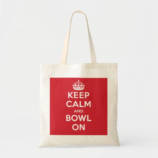 """Keep Calm and Bowl On"" Tote Bag"