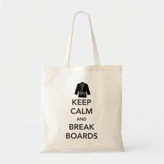 Keep Calm and Break Boards Bag