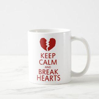 Keep Calm and Break Hearts Basic White Mug