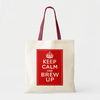 Keep Calm and Brew Up British Fun Tote Bags