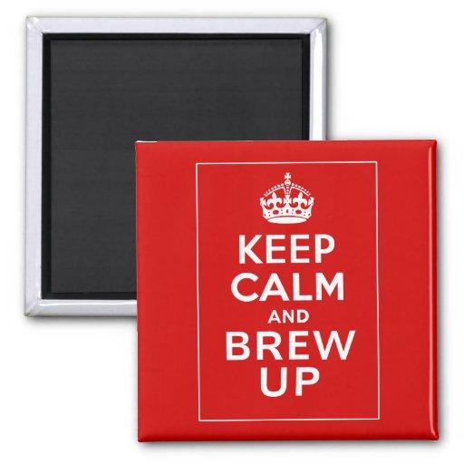 Keep Calm and Brew Up ~ British Fun Fridge Magnet