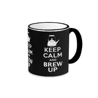 Keep Calm and Brew up british humor Ringer Mug