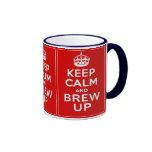 Keep Calm and Brew Up Coffee Mug
