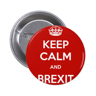 Keep Calm and Brexit 6 Cm Round Badge