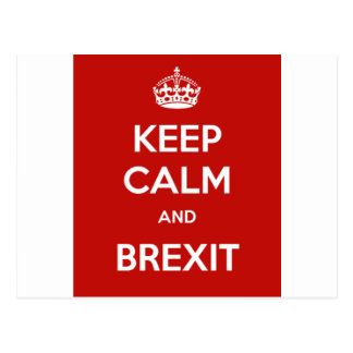 Keep Calm and Brexit Postcard