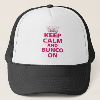Keep Calm and Bunco On Design Trucker Hat