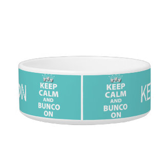 Keep Calm and Bunco On Snack Bowl Cat Bowl