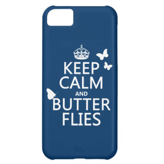 Keep Calm and Butterflies (any background color) iPhone 5C Case