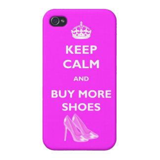 Keep Calm And Buy More Shoes IPhone 4 Glossy Case Case For iPhone 4