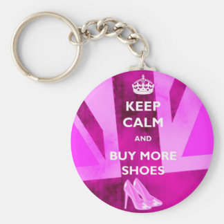 Keep Calm and Buy More Shoes Keyring Keychain