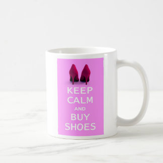 Keep Calm and Buy Shoes Basic White Mug